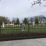 First sections of the Cemetery Fence